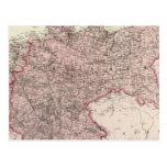 Mapa del imperio alemán postal