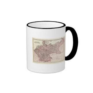 Mapa del imperio alemán taza de café