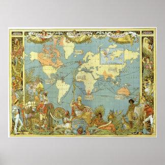 Mapa del Imperio británico Impresiones