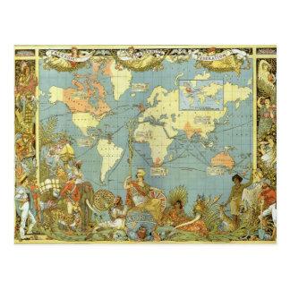 Mapa del Imperio británico Postal