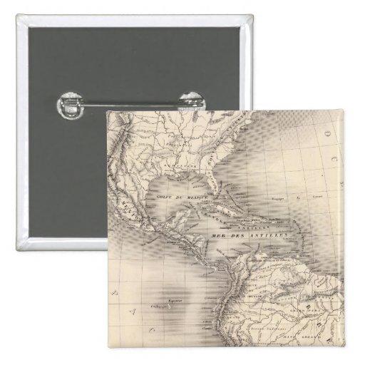 Mapa del imperio español en las Américas Pins