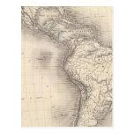 Mapa del imperio español en las Américas Postal