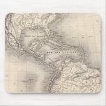 Mapa del imperio español en las Américas Tapetes De Ratones