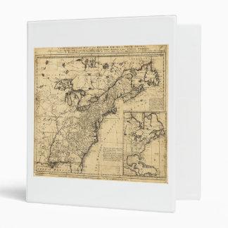 """Mapa del imperio inglés en Norteamérica (1755) Carpeta 1"""""""