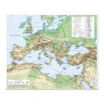 Mapa del imperio romano durante el reinado del emp impresiones en lona