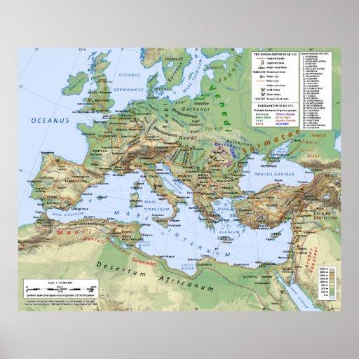 Mapa del imperio romano durante el reinado del emp impresiones