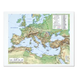 """Mapa del imperio romano durante el reinado del invitación 4.25"""" x 5.5"""""""