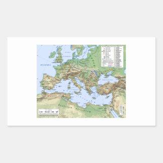 Mapa del imperio romano durante el reinado del pegatina rectangular