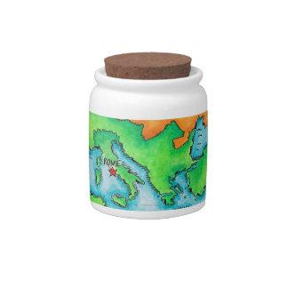 Mapa del imperio romano jarras para caramelos