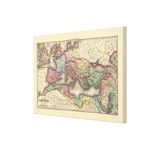 Mapa del imperio romano impresiones de lienzo