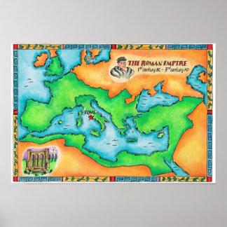 Mapa del imperio romano poster