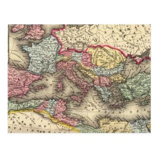 Mapa del imperio romano postal