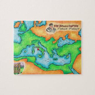 Mapa del imperio romano puzzles con fotos