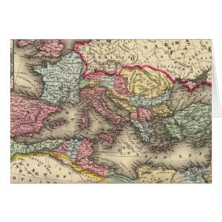 Mapa del imperio romano tarjeta de felicitación
