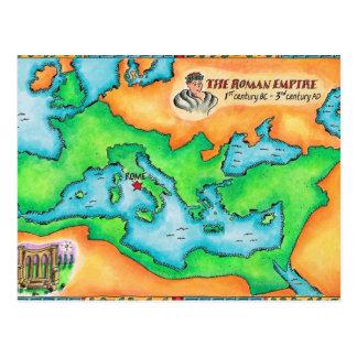 Mapa del imperio romano tarjetas postales
