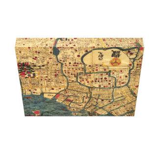 Mapa del japonés: Tokio/Edo Impresiones En Lona Estiradas
