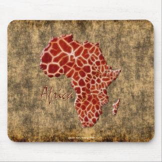 mapa del Jirafa-efecto de África en la piedra rúst Alfombrillas De Ratones