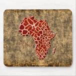 mapa del Jirafa-efecto de África en la piedra rúst Tapetes De Raton