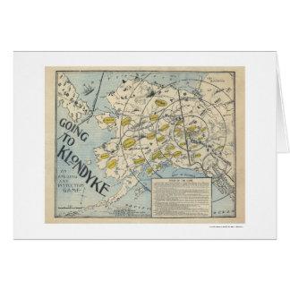 Mapa del Klondyke de un juego de mesa 1897 Tarjeta De Felicitación