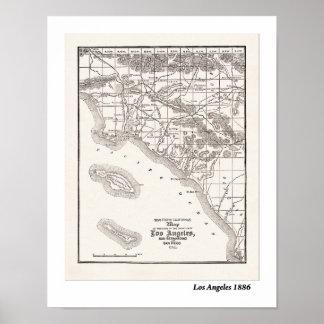 Mapa del LA a partir de 1886 Póster