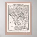 Mapa del LA a partir de 1925 Impresiones