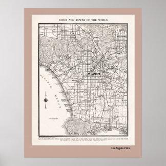 Mapa del LA a partir de 1925 Póster