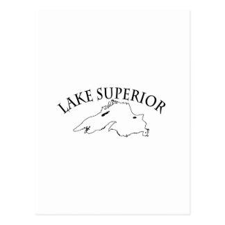 Mapa del lago Superior Postales