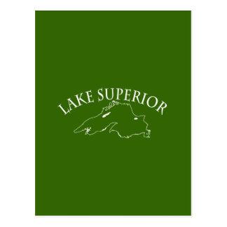 Mapa del lago Superior Tarjetas Postales