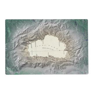 Mapa del lago Tahoe