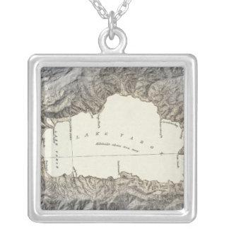 Mapa del lago Tahoe Colgante Cuadrado