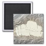 Mapa del lago Tahoe Imán Cuadrado