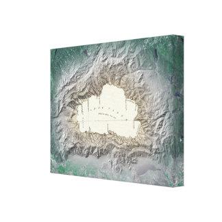 Mapa del lago Tahoe Impresiones En Lona Estiradas