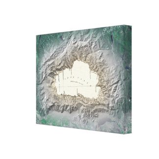 Mapa del lago Tahoe Impresiones En Lienzo Estiradas