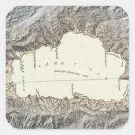 Mapa del lago Tahoe Pegatina Cuadrada