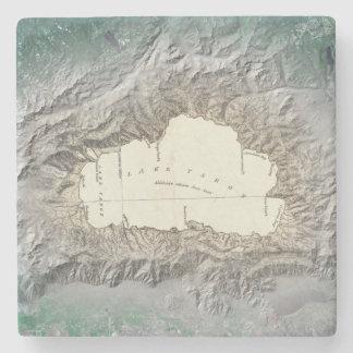 Mapa del lago Tahoe Posavasos De Piedra