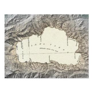 Mapa del lago Tahoe Postal