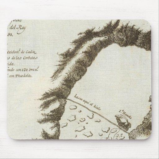 Mapa del libro de Alaska Tapete De Ratón