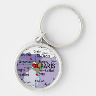 Mapa del llavero del premio de París