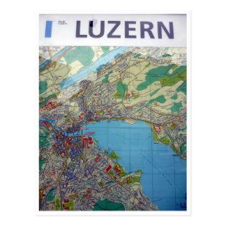 mapa del lucerne tarjetas postales