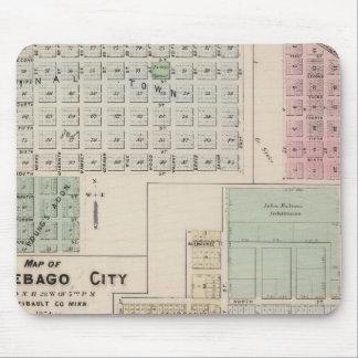 Mapa del mapa de la ciudad del Winnebago de la tie Tapetes De Raton