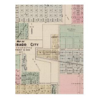 Mapa del mapa de la ciudad del Winnebago de la tie Postal