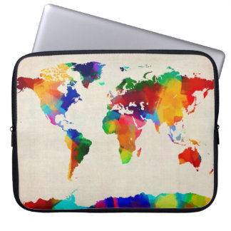 Mapa del mapa del mundo de la vieja partitura manga portátil