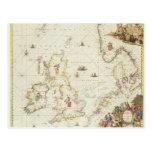 Mapa del Mar del Norte, c.1675 Postales