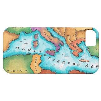 Mapa del mar Mediterráneo iPhone 5 Case-Mate Cobertura