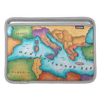Mapa del mar Mediterráneo Funda Para Macbook Air