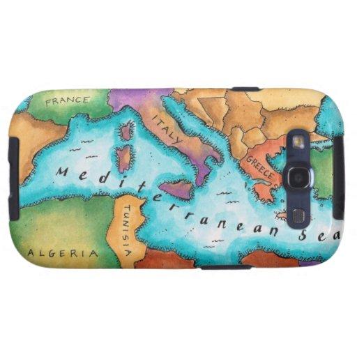 Mapa del mar Mediterráneo Galaxy S3 Cobertura
