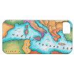 Mapa del mar Mediterráneo iPhone 5 Carcasas
