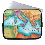 Mapa del mar Mediterráneo Mangas Computadora