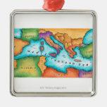 Mapa del mar Mediterráneo Ornamente De Reyes