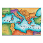 Mapa del mar Mediterráneo Tarjeta
